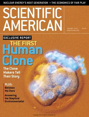 Magazine cover of Scientific American