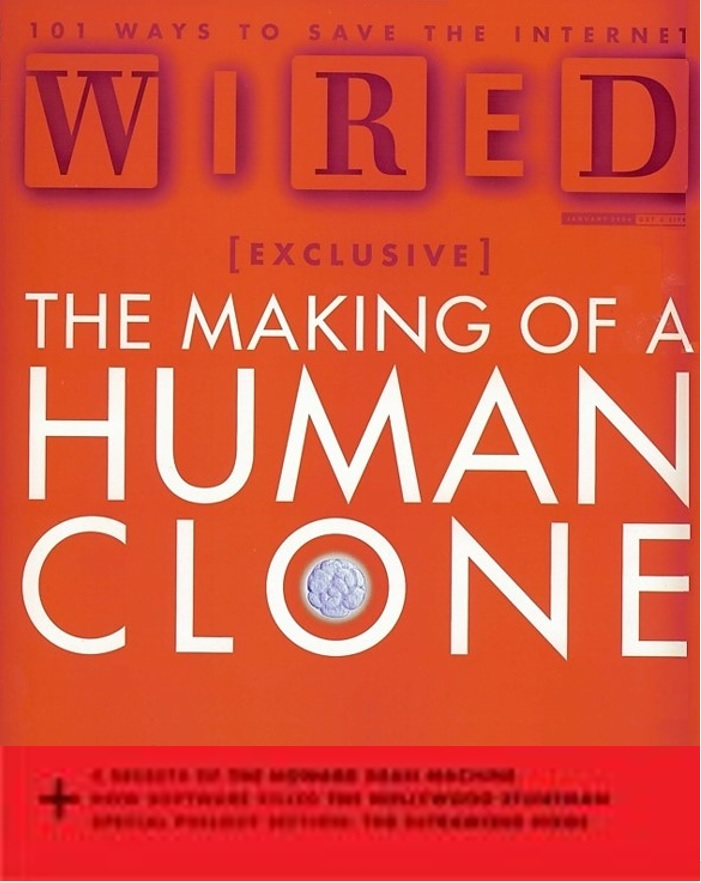 Magazine cover of Wired
